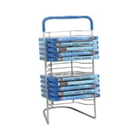 "Atlantic 15"" Nestable 16 CD/ DVD/ BluRay Storage Tower, Gunmetal"
