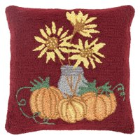 Surya Fall Harvest Sunflowers Decorative Throw Pillow