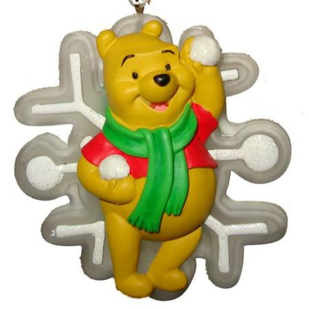 disney winnie the pooh christmas ornament light up pooh bear with snowflake - Pooh Christmas