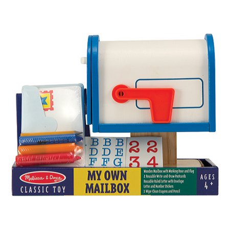 Melissa & Doug My Own Wooden Mailbox Activity Set and Educational - Anamalz Wooden Toy
