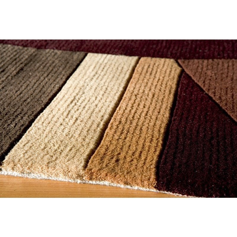 "Momeni New Wave 2'6"" X 12' Runner Rug in Wine - image 1 of 4"
