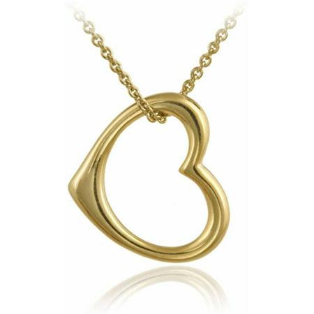 Designer inspired 18kt gold over sterling silver open floating heart designer inspired 18kt gold over sterling silver open floating heart pendant aloadofball Images
