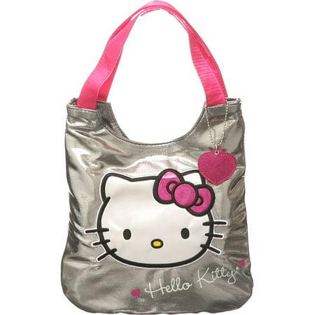 Hello Kitty Goody Bags (Metallic Grey Hello Kitty ''Silver Sensation'' Small Tote Bag by S)