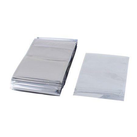 Uxcell 50 Pcs 90mm x 130mm Silver Tone Resealable Zip Lock Anti Static Bag Anti Static Bags
