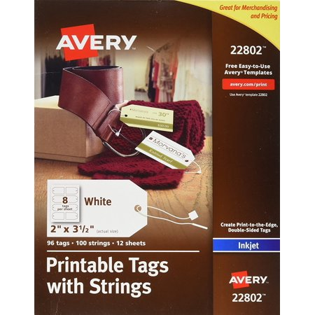 Printable Tags with Strings for Inkjet Printers, 2