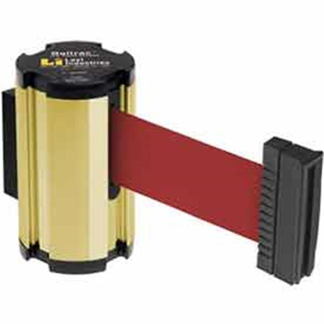 Lavi Industries 50-3010GD-RD Wall Mount 7 ft. Retractable Belt Barrier, Red