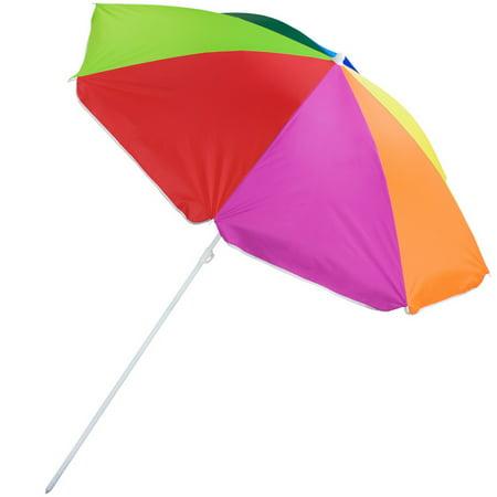 Rainbow Beach Umbrella - Brybelly Rainbow Beach Umbrella, 8-foot