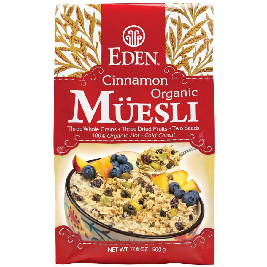 Eden Cinnamon Organic Muesli Cereal, 17.6 oz, (Pack of 3) by