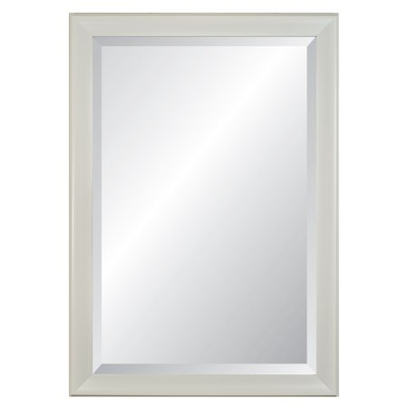 """Image of 21 x 27"""" Concept White 2.5"""" Wide Framed Beveled Glass Wall Mirror - Alpine Art and Mirror"""
