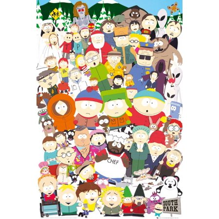 South Park - TV Show Poster / Print (All Characters / The Cast) (Size: 24