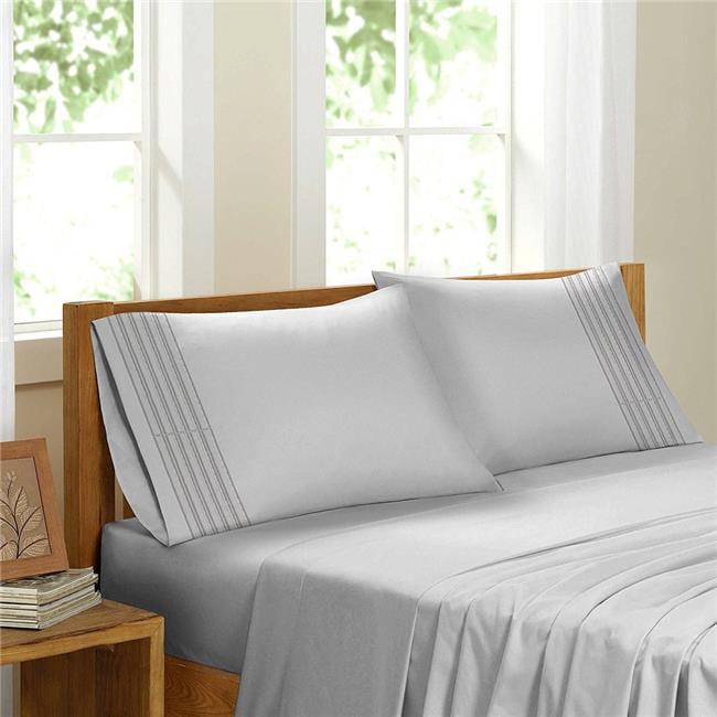 GDC-GameDevCo 37265 Egyptian Comfort Sateen Sheet Set, White - King