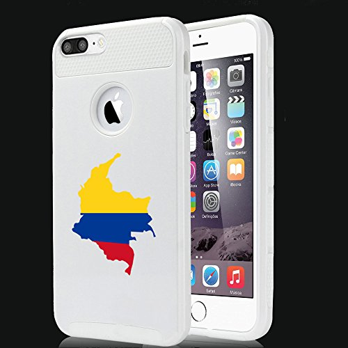 For Apple iPhone (7 Plus) Shockproof Impact Hard Soft Case Cover Columbia Columbian (White)