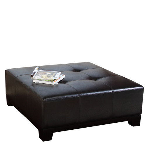 Home Loft Concepts Darlington Leather Cocktail Ottoman