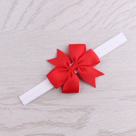 Christmas Headwear Girls Infant Hair Band Bow Headbands Flower Hair Accessories - Christmas Head Wear