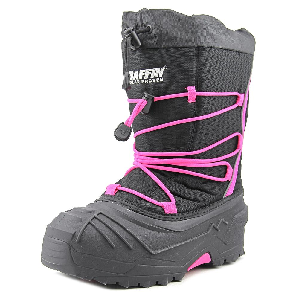 Baffin Young Snogoose Youth  Round Toe Canvas Black Snow Boot
