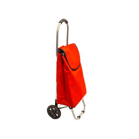 Ultra-Light Shopping Cart - 3 Lb. Rolling Tote Bag - Red