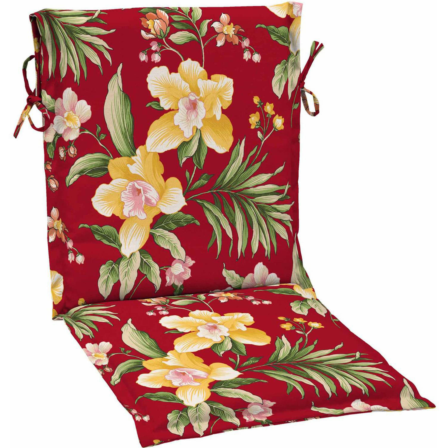 Mainstays Outdoor Patio Sling Chair Cushion, Multiple Patterns