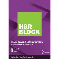 H&R Block 2019 Deluxe + State PC (Digital Download)