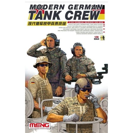 Meng 1:35 German Tank Crew - 4 Plastic Figures Model Kit #HS006