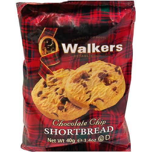 Walkers Chocolate Chip Shortbread Cookies, 1.4 oz (Pack of 24)