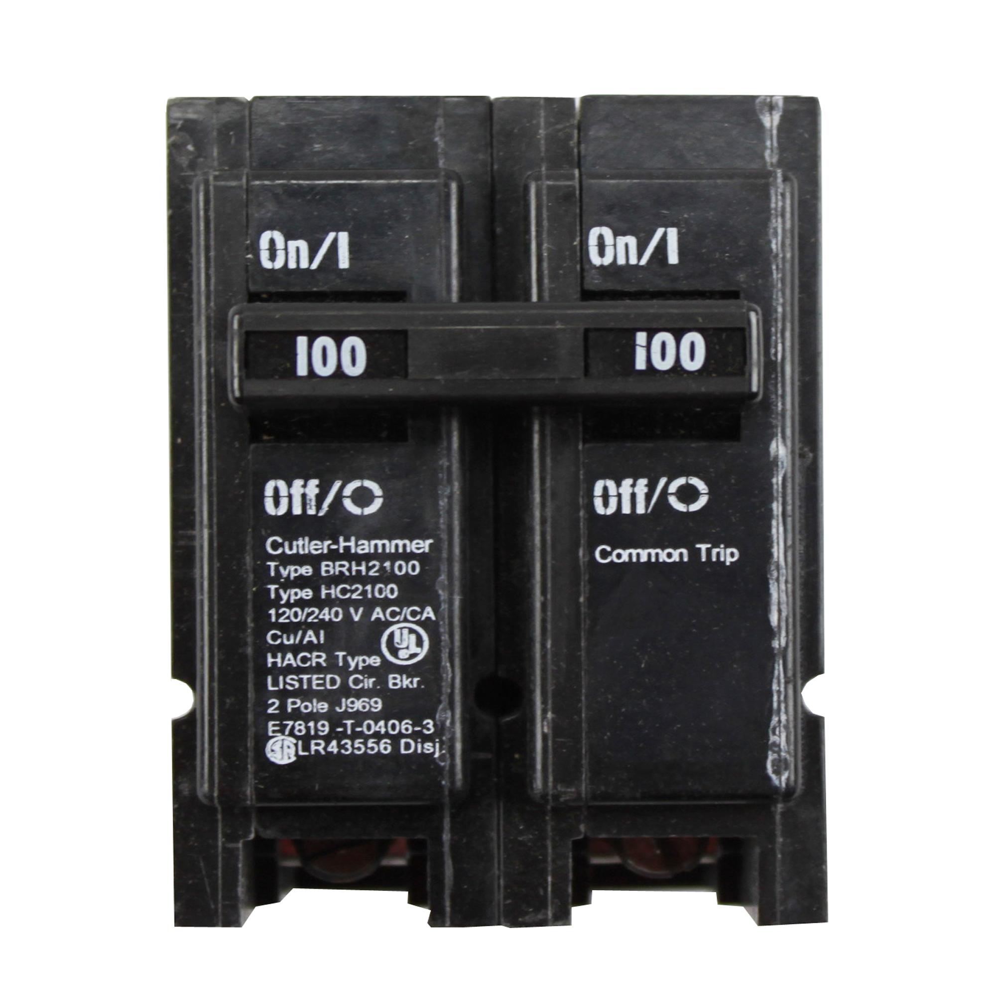 Eaton Cutler-Hammer BRH2100 100A 2P 120/208/240V Circuit Breaker  - Black