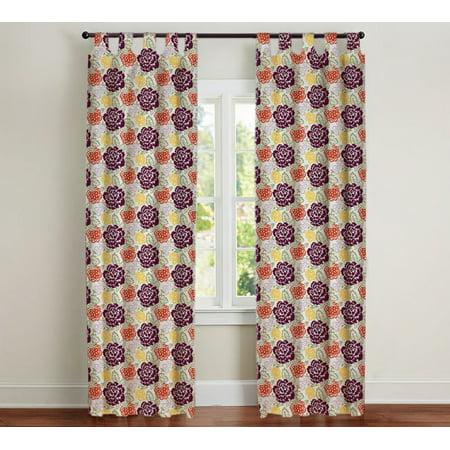 50 90 (Harriett Curtain Panel, Multicolored, 50