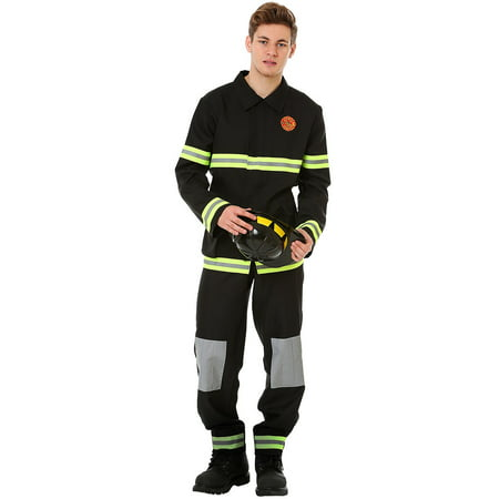 Boo! Inc. Men's Five-Alarm Firefighter Halloween Costume | Adult Dress Up Outfit (Boo Crew Halloween Party Supplies)