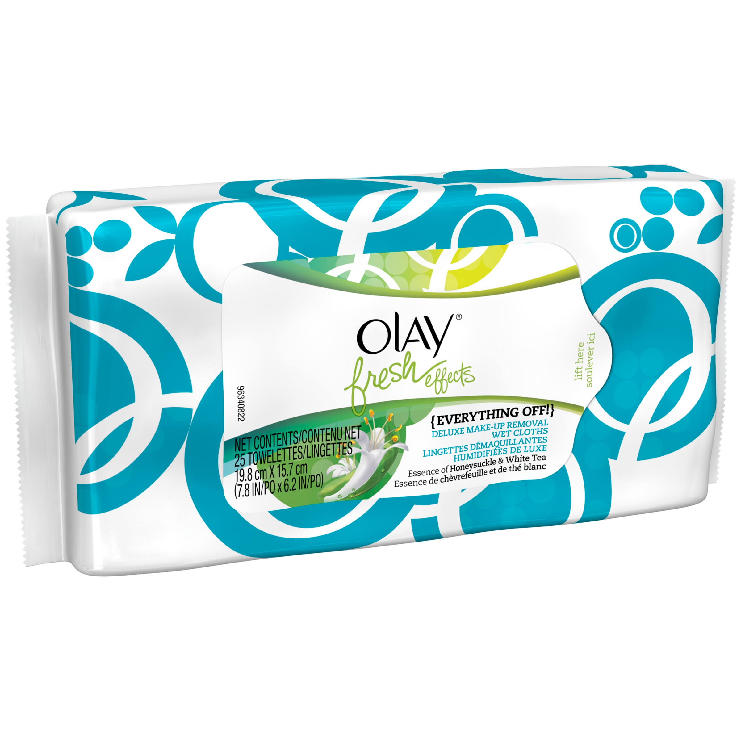 Olay Fresh Effects Everything Off! Deluxe Make-Up Removal Wet Cloths, 25 sheets