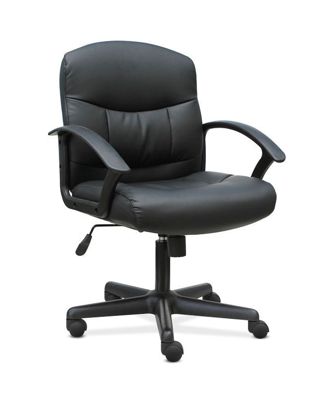 Super Sadie Mid Back Task Chair Fixed Armed Computer Chair For Office Desk Black Leather Hvst303 Walmart Com Ocoug Best Dining Table And Chair Ideas Images Ocougorg