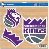 "Sacramento Kings WinCraft 11"" x 11"" 3-Pack Car Magnet Set - No Size"