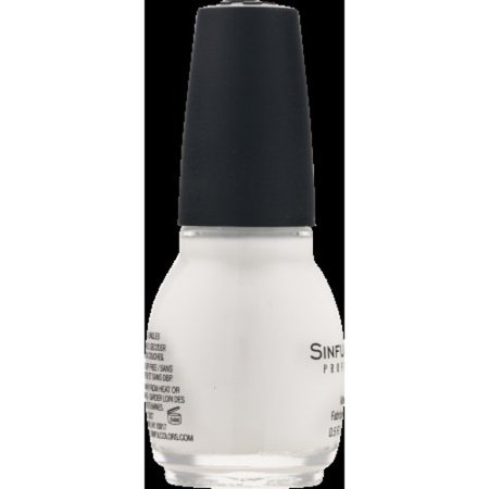 Sinful Colors Professional Nail Polish, Snow Me White, 0.5 fl oz