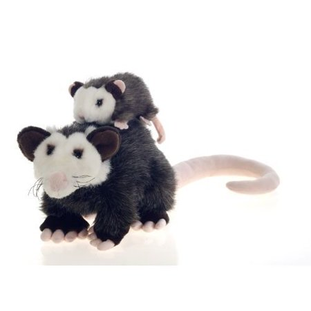 Plush Opossum Mama Possum with Baby Plush Stuffed Animal Toy - 10 Inches, Includes 1 Plush Opossum Mama With Baby By Fiesta Toys](Fiesta Stuffed Animals)