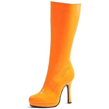 Ellie Shoes E-421-Zenith 4 Knee High Boot Neon 10 / Orange](Ellie Boot)