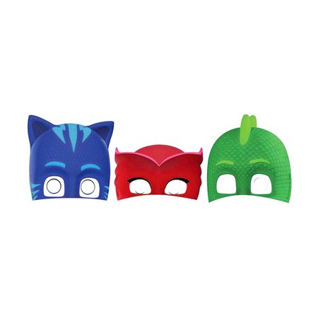 Novelty Character Party Accessories Amscan PJ Masks Paper Masks (8pc Set) (Multipack of 3)](Halloween Night Party Mumbai)