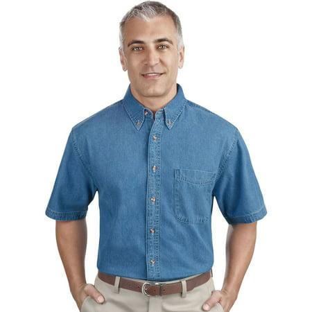 - Port & Company Men's Short Sleeve Value Denim Shirt