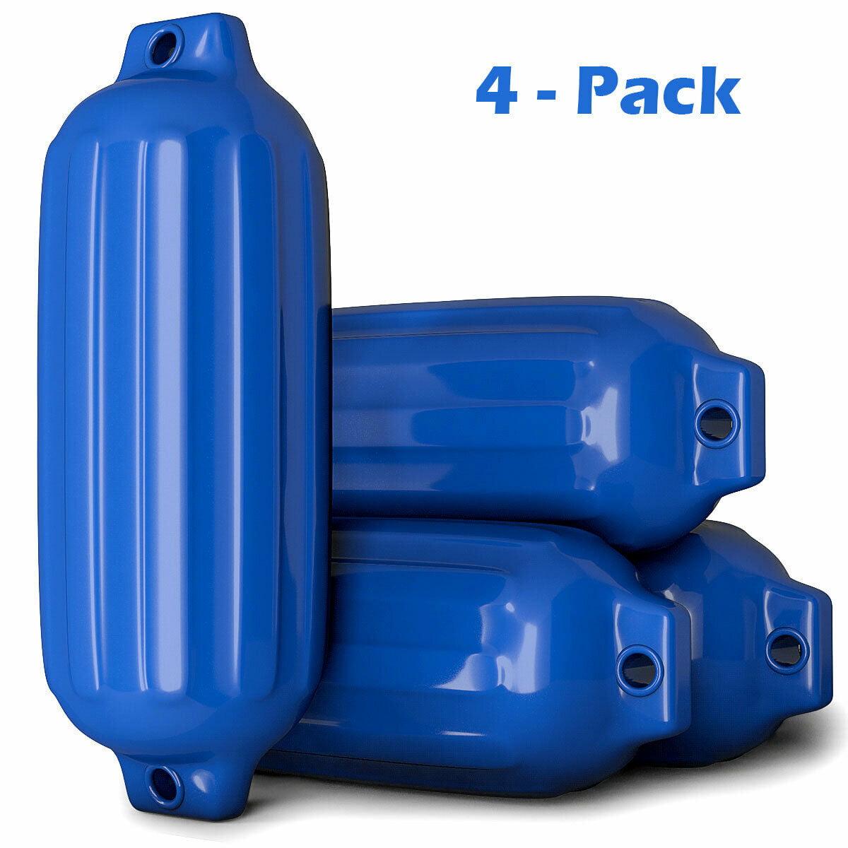 "4 Ribbed Marine 8.5/"" X 27/"" Boat Fender Vinyl Bumper Dock Shield Protection Blue"