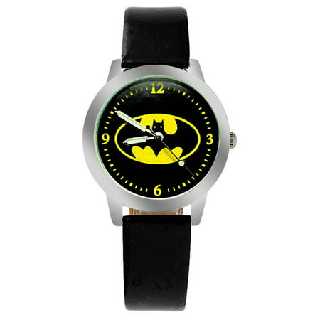 Batman Super Hero Watch Children Young Adults Glow in the Dark Hands WATCH-230