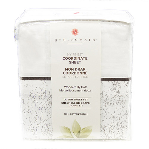 Springmaid My Finest Coordinate Sheet Set Collection, Frosted Garden