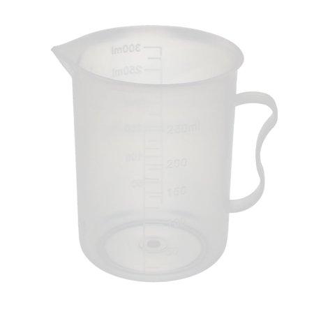 Kitchen Lab 250ml Plastic Measuring Jug Cups Handle Pour Spout Container