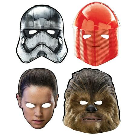 Star Wars Episode VIII Paper Masks (8) - Star Wars Party Masks