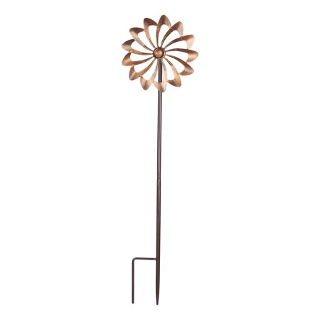 Mainstays Double Flower Metal Wind Spinner in Bronze - Rainbow Wind Spinners