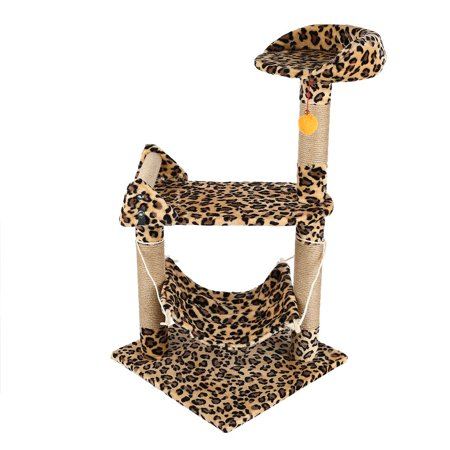 M32 37\'\'Pet Cat Tree for Small Cat Climbing Frame Toy Cat Scratching ...