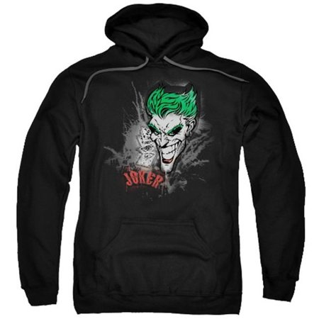Trevco Batman-Joker Sprays The City - Adult Pull-Over Hoodie - Black, Medium - The Joker Suit For Sale