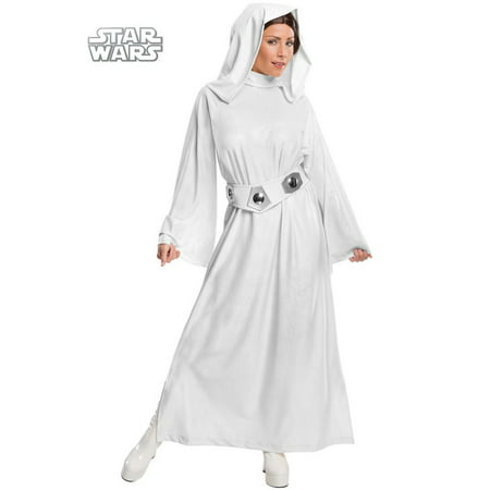 Adult Star Wars Deluxe Princess Leia Costume (Princess Peach Costume Women)
