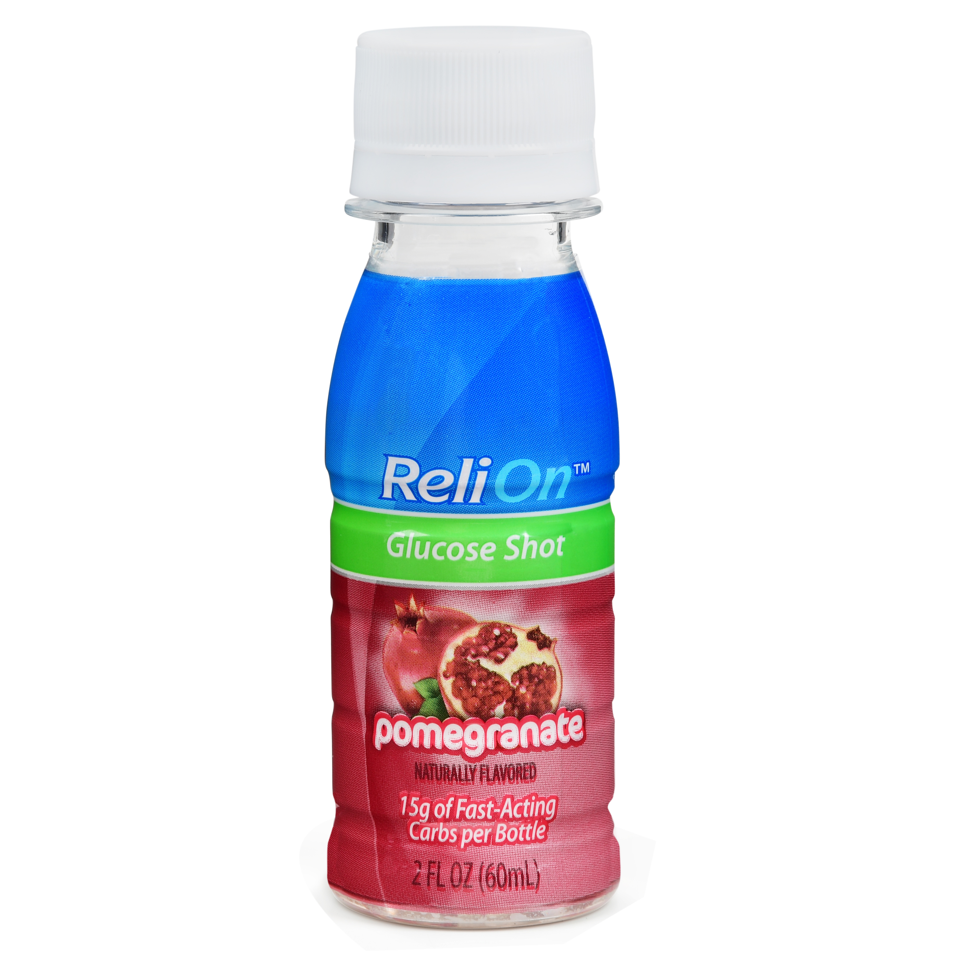 ReliOn Pomegranate Glucose Shot, 2 Oz
