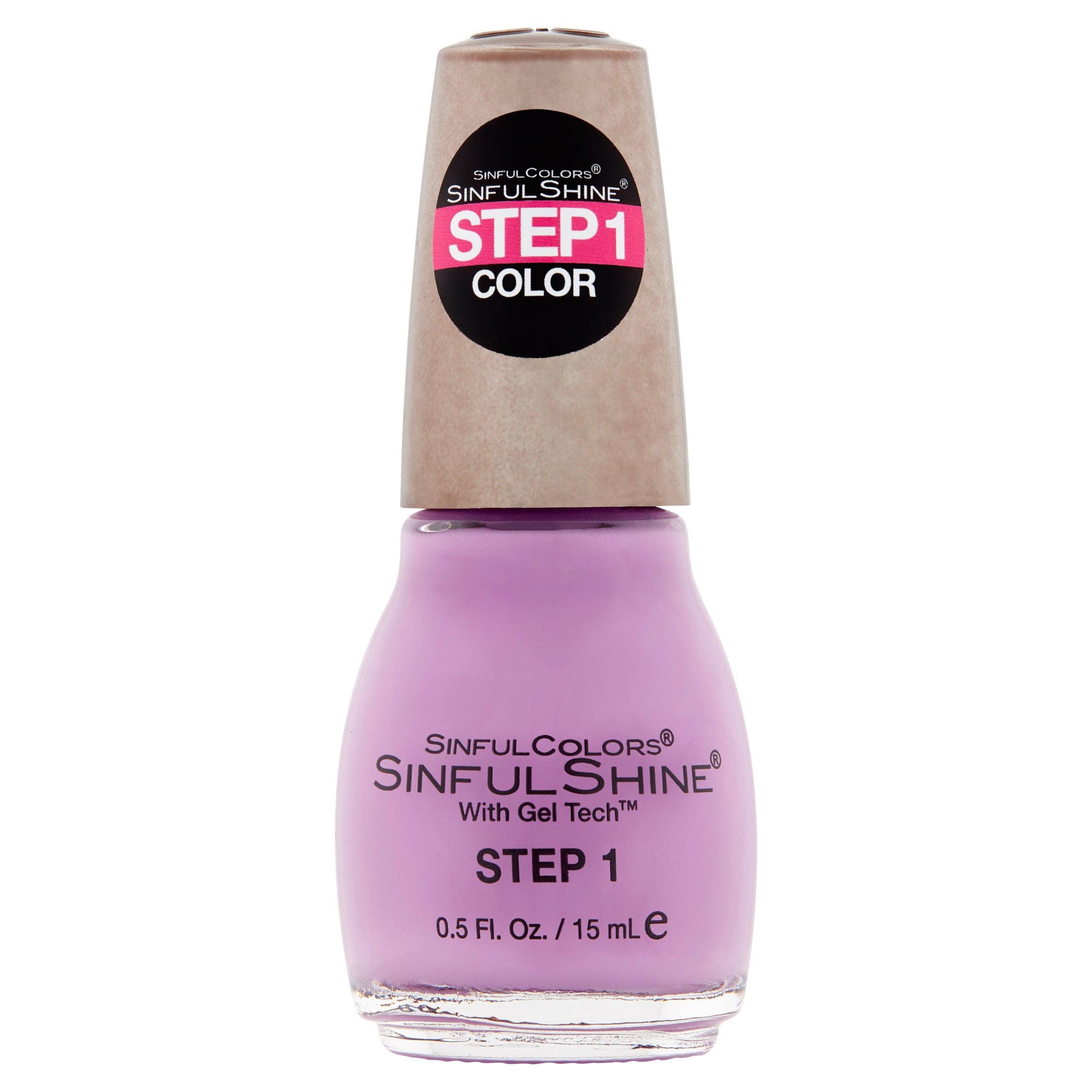 SinfulColors SinfulShine Step 1 Color Nail Color, Pragmatic, 0.5 fl oz