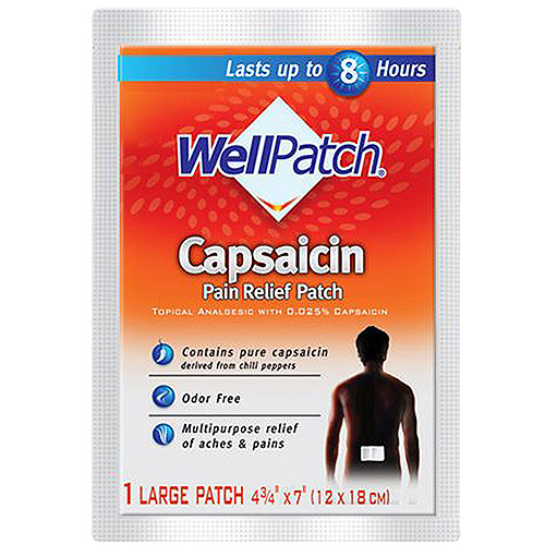 Deep Heating: Well Patch For Muscle & Joint Pain Topical Analgesic W/0.025% Capsaicin Pain Relief Pads