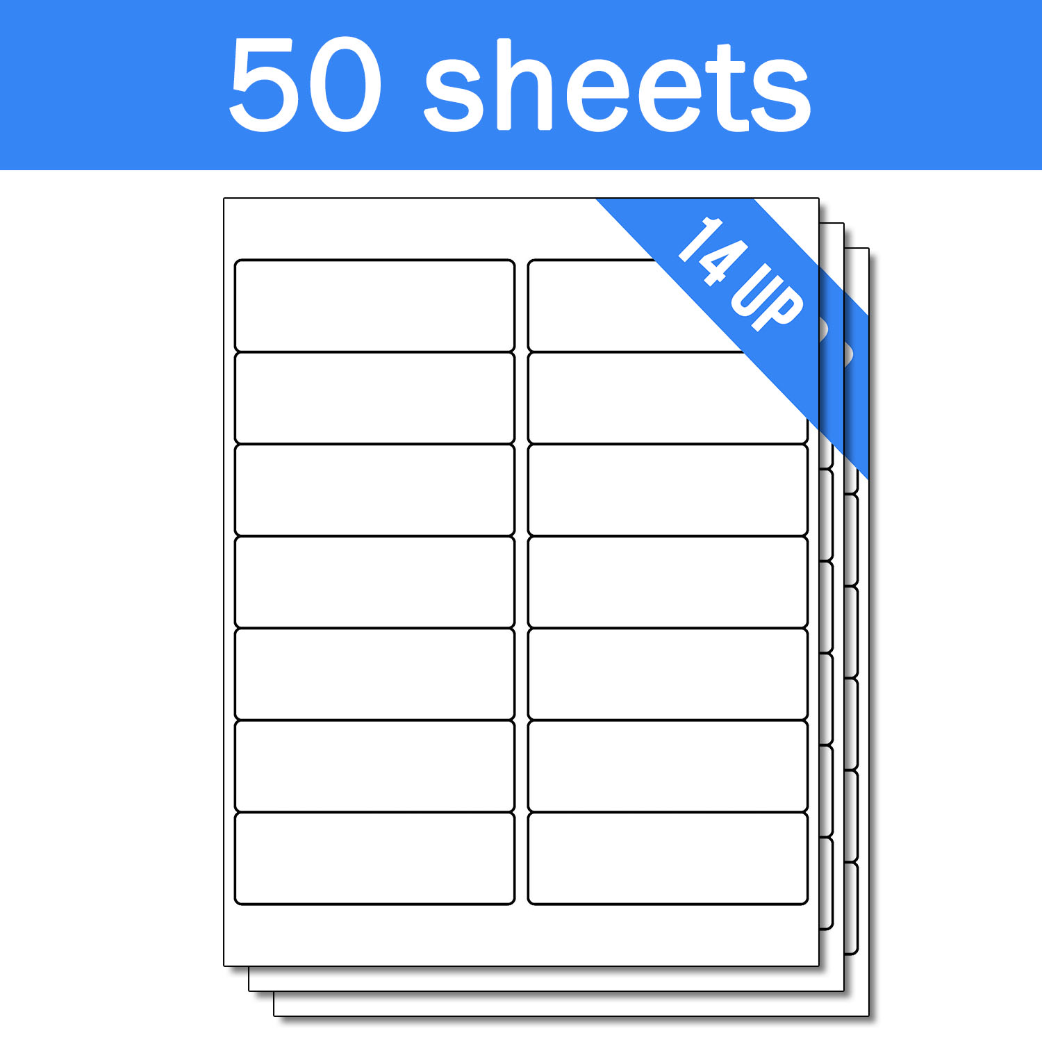 Officesmartlabels 1 33 x 4 labels stickers 14 labels per sheet for