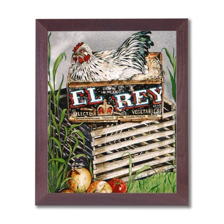 Free Cherry Wood Gift Box (Country Farm Chicken Wood Box Nest Folk Wall Picture Cherry Framed Art Print)