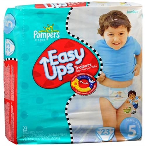 Pampers Easy Ups Training Pants Boys Size 5 30-40 LBS 23 Each [4 packs per case] (Pack of 3)